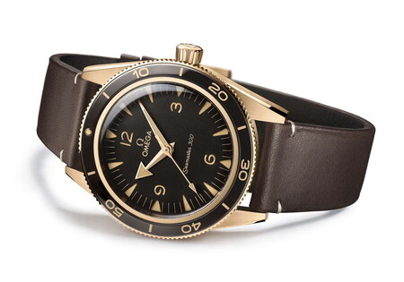 Omega Le Da Un Nuevo Toque De Elegancia Al Seamaster 300 Co Nun Sofisticado Color Oro Bronce 3