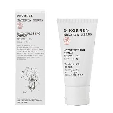 La hidratante Materia Herba para pieles secas de Korres, a examen