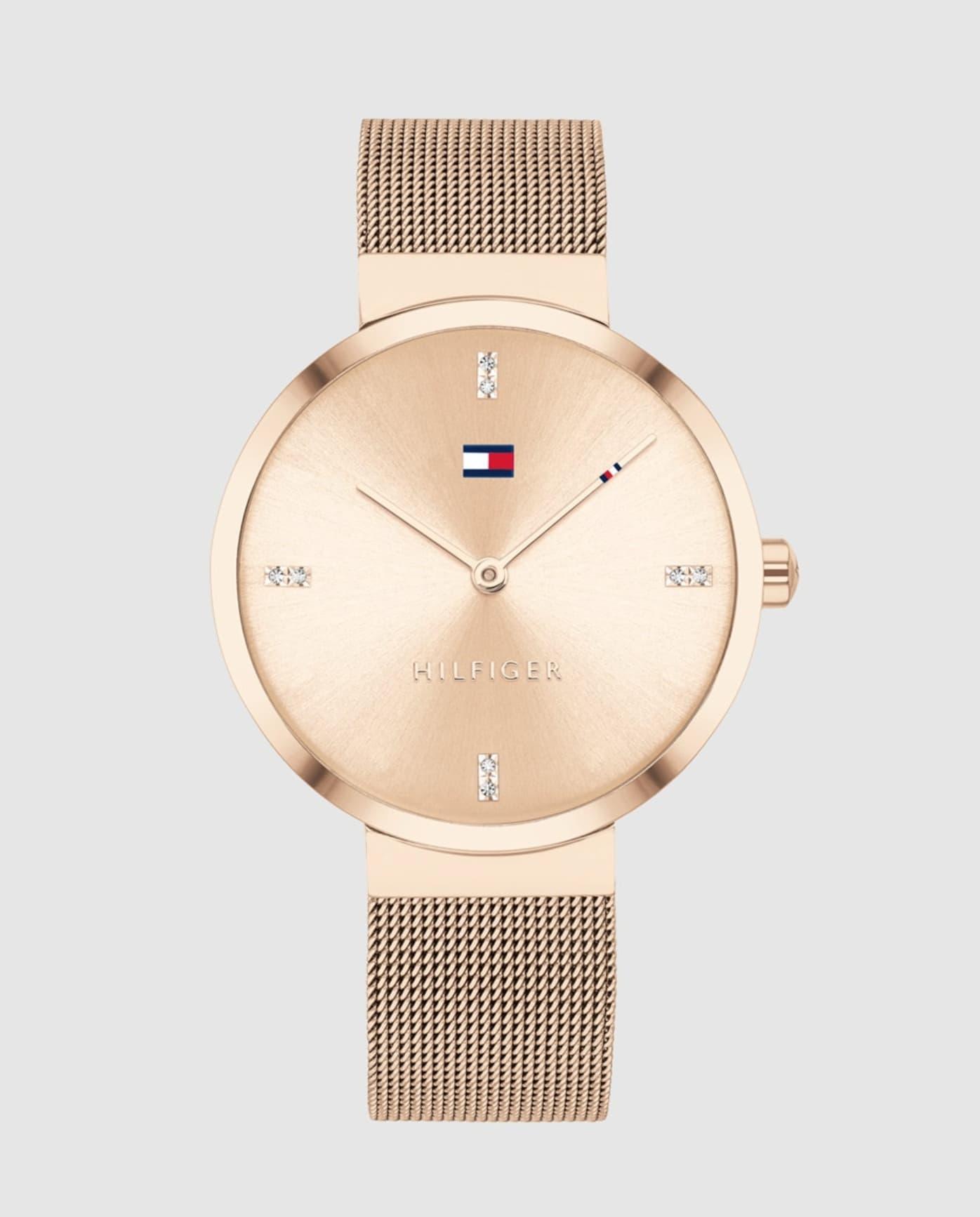 Reloj de mujer Tommy Hilfiger 1782218 de malla de acero rosa