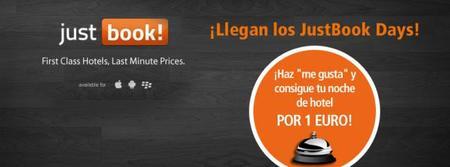 Habitaciones de hotel a 1 euro en varias ciudades españolas gracias a los 'JustBook Days'