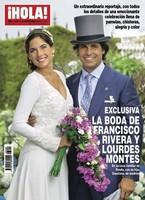 Y con la exclusiva machacada, Hola nos trae el bodorrio de Fran Rivera en portada