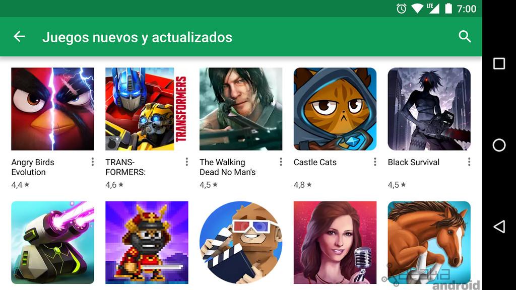 Juegos nuevos y actualizados