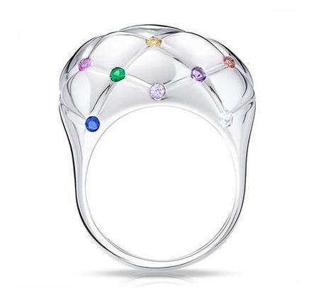Sortija Treillage de Faberge piedras preciosas