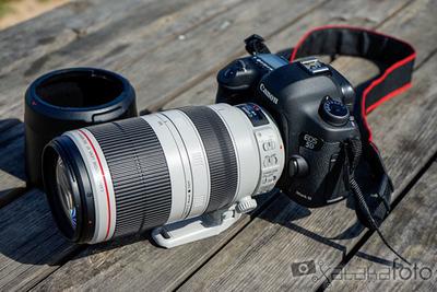 Canon EF 100-400mm f/4,5-5,6L IS II USM, toma de contacto