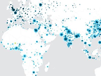 Cómo han crecido todas las ciudades del mundo a lo largo del último siglo, en un mapa interactivo