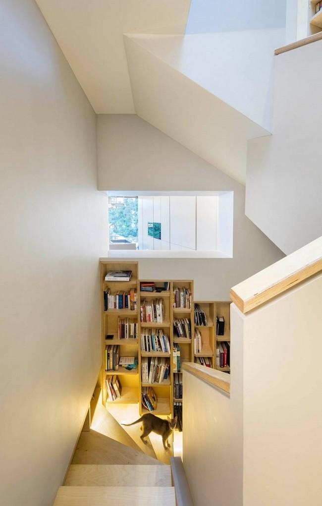 Biblioteca en la escalera