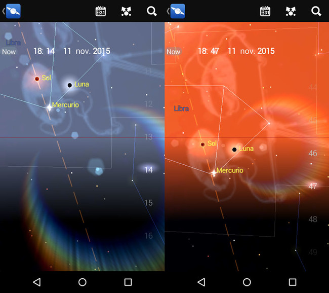 Luna Nueva El once De Noviembre De 2015 Capturas De Pantalla De La App Mapa Estelar
