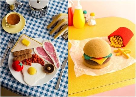 Alimentos tejidos en punto por Jessica Dance