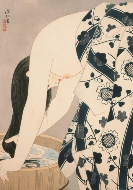 Ito Shinsui Hair 1952 C Taiyo No Hikari Foundation Japan