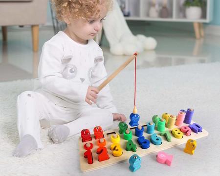 Puzzle De Bloques De Madera Montessori