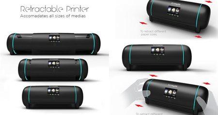 Impresora extensible detalle