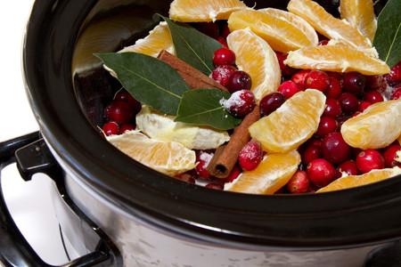 fruta en crock-pot
