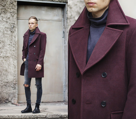 Burgundy Trends Mens Bloguers Fashion 2