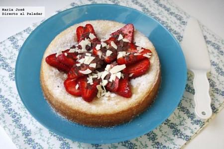 Bizcocho de vainilla con fresas: receta  para aprovechar la fruta de temporada