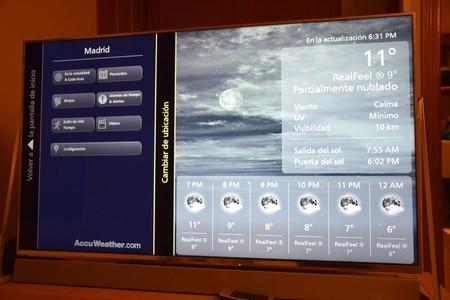 Accuweather viene incorporado de serie y podremos echar un vistazo a la previsión meteorológica rápidamente