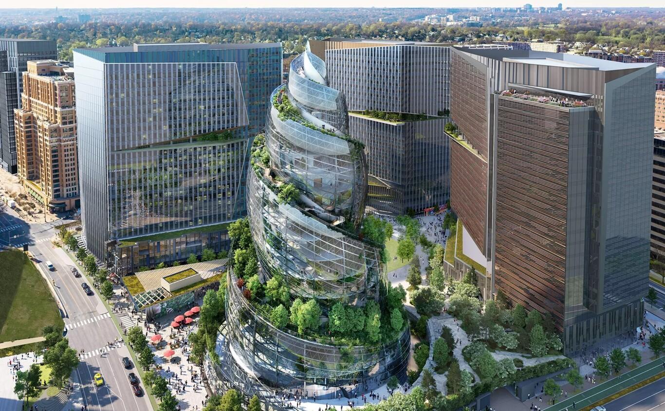 La propuesta de nueva sede de Amazon es un tributo a la naturaleza. A algunos les parece el emoji de caca