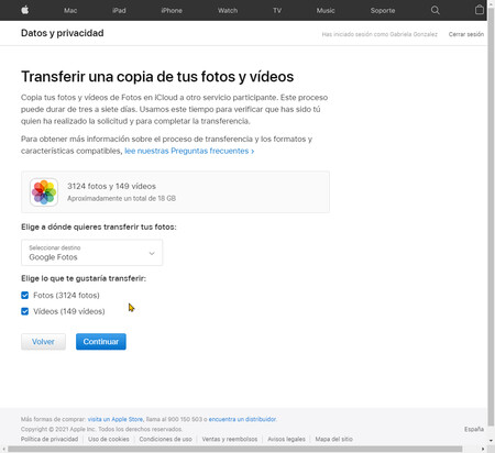Transferir Icloud A Google Fotos