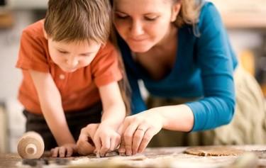 Los niños en la cocina