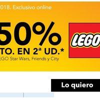 50% de descuento en la segunda unidad en Lego Star Wars, City y Friends en Toys 'r us