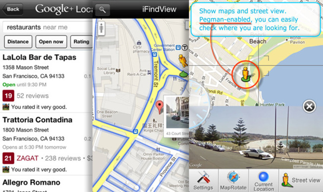 Google Maps con Streetview y búsquedas locales en iOS 6