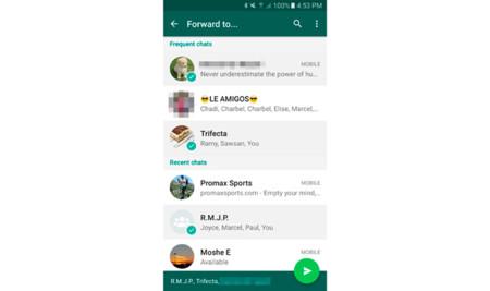 Whatsapp selección múltiple de chats