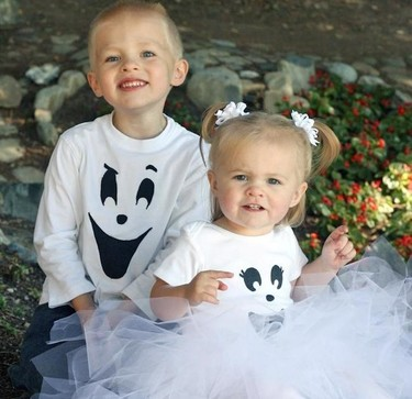 Hazlo tú mismo: adorable disfraz de fantasma para Halloween