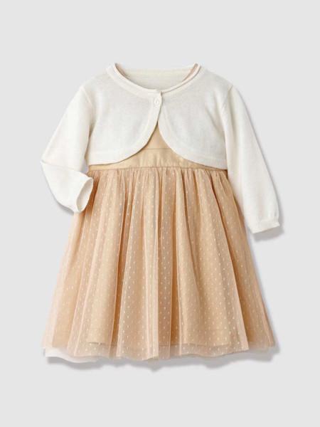 Vestido Bebe Fiesta Plumetis