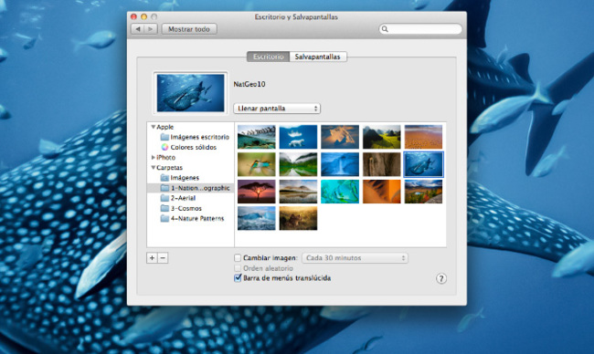 Fondos secretos de OS X Mountain Lion