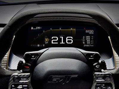 El Ford GT contará con cinco modos de conducción, cada uno con un cuadro diferente