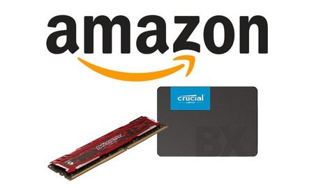 Memoria RAM y ROM para actualizar tu equipo, con estas ofertas de Amazon en Crucial y Ballistix