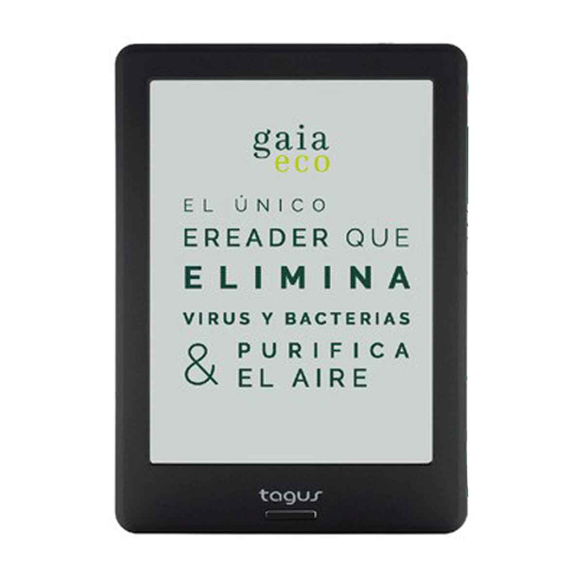 "eReader Tagus Gaia Eco, 8 GB Negro, 6"" (15,24 cm) Wi-Fi"