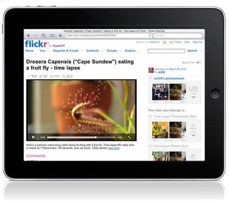 Flickr se prepara para la llegada del iPad