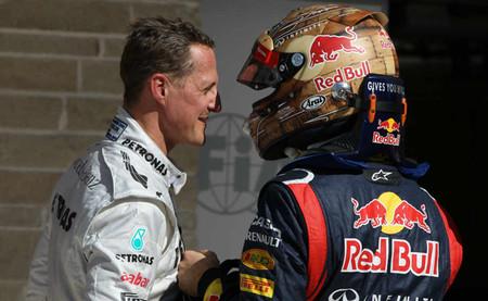 Michael Schumacher cree que Sebastian Vettel podría ganar siete títulos