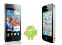 Samsung Galaxy S II frente al iPhone 4