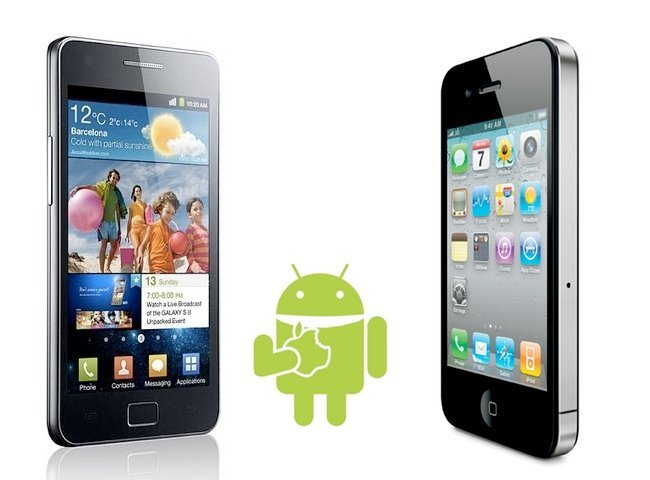 iPhone 4 frente al Galaxy S II