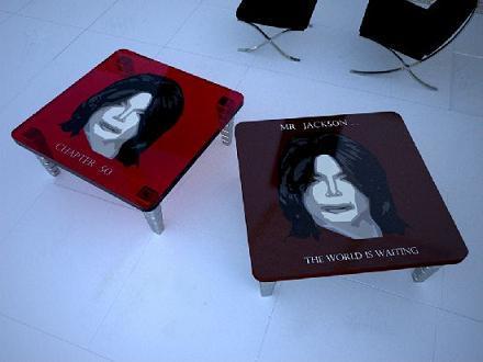 Mesas en homenaje a Michael Jackson