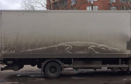 """El ruso que convierte el """"lava el coche, guarro"""" en Arte"""