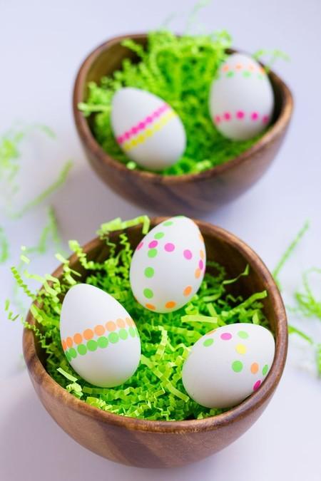 Manualidades Pascua Decorar Huevos Pegatinas Neon
