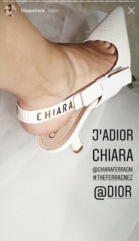 4a7a5bae Además, es la primera vez que se realizan con una sola, pieza de tela sin  costuras, exactamente como los zapatos que Dior hizo a medida para Chiara  Ferragni ...