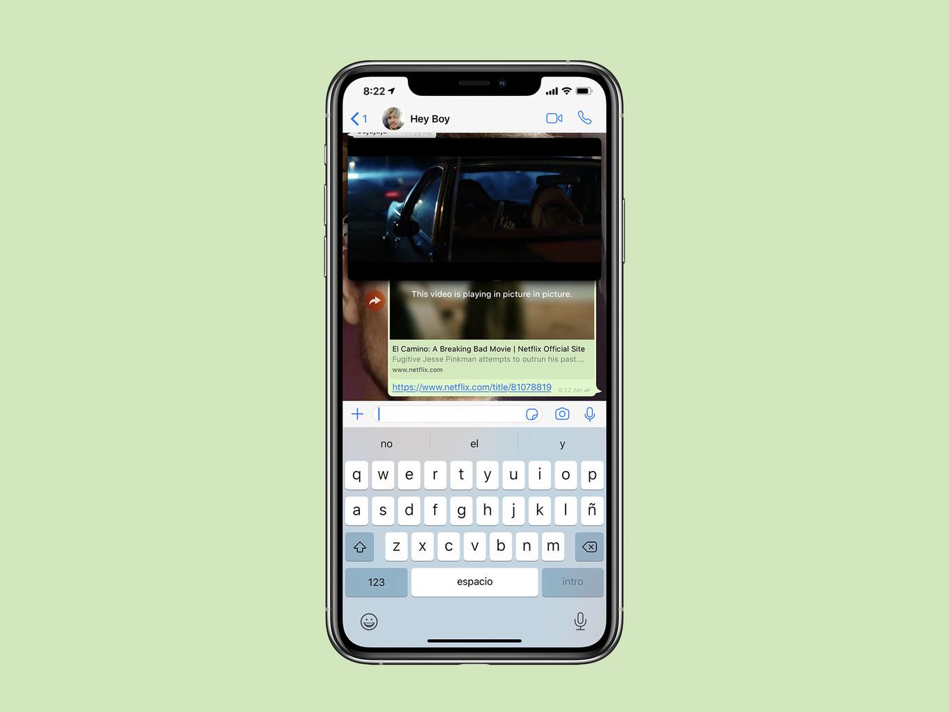 La última versión de WhatsApp para iPhone permite ver trailers de Netflix directamente en la app
