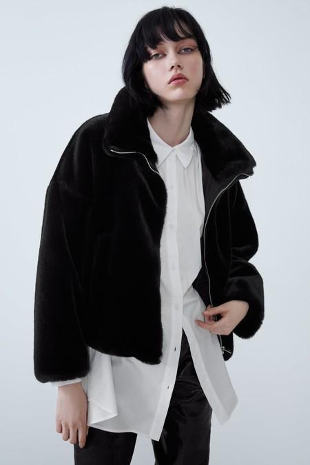 Zara Abrigo Peluche Otono 2019 16
