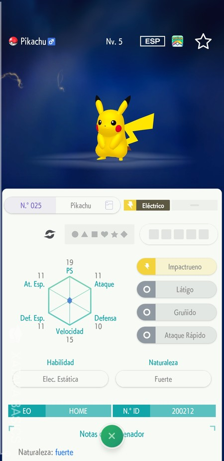 Ficha Pokemon