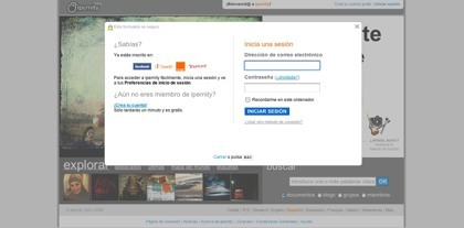 Ipernity ya permite el acceso a su servicio desde la ID de Facebook, Orange y Yahoo