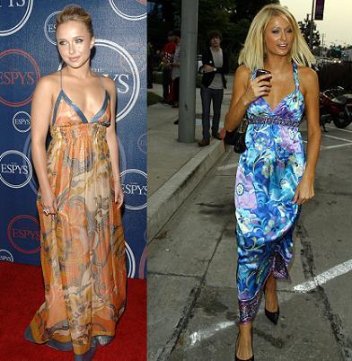 Vestido scarf print ¿Hayden Panettiere o Paris Hilton?