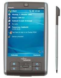 PDA de Fujitsu-Siemens con GPS integrado