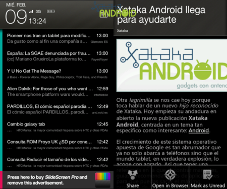 Slide Screen Home para Android