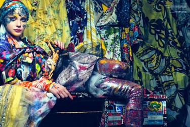 Editoriales de moda: V magazine enero/febrero 2008