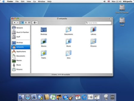 mac os x 10.3 panther descargar
