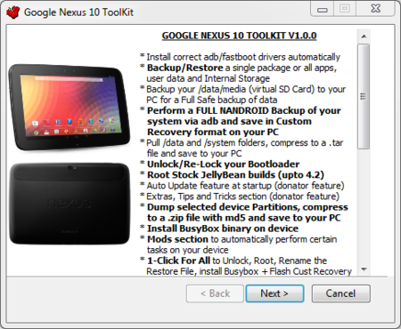 Nexus 10 Toolkit