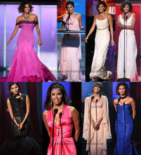 Los diferentes vestidos de Eva Longoria en los Premios Alma 2008